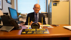 "Edward ""Skip"" Gnehm Jr. in his GW office."