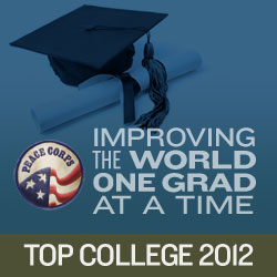 Peace Corp - top college rankings 2012