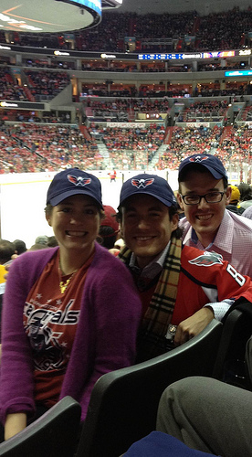 Alumni at DC Capitals Game