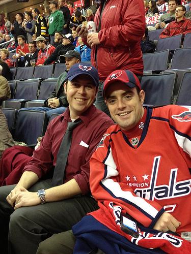 Alumni at DC Capitals Game