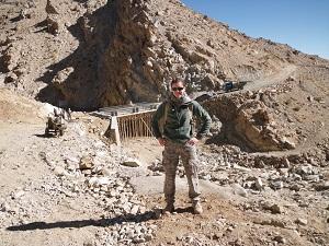 Alex Dietrich-Greene on duty in Afghanistan
