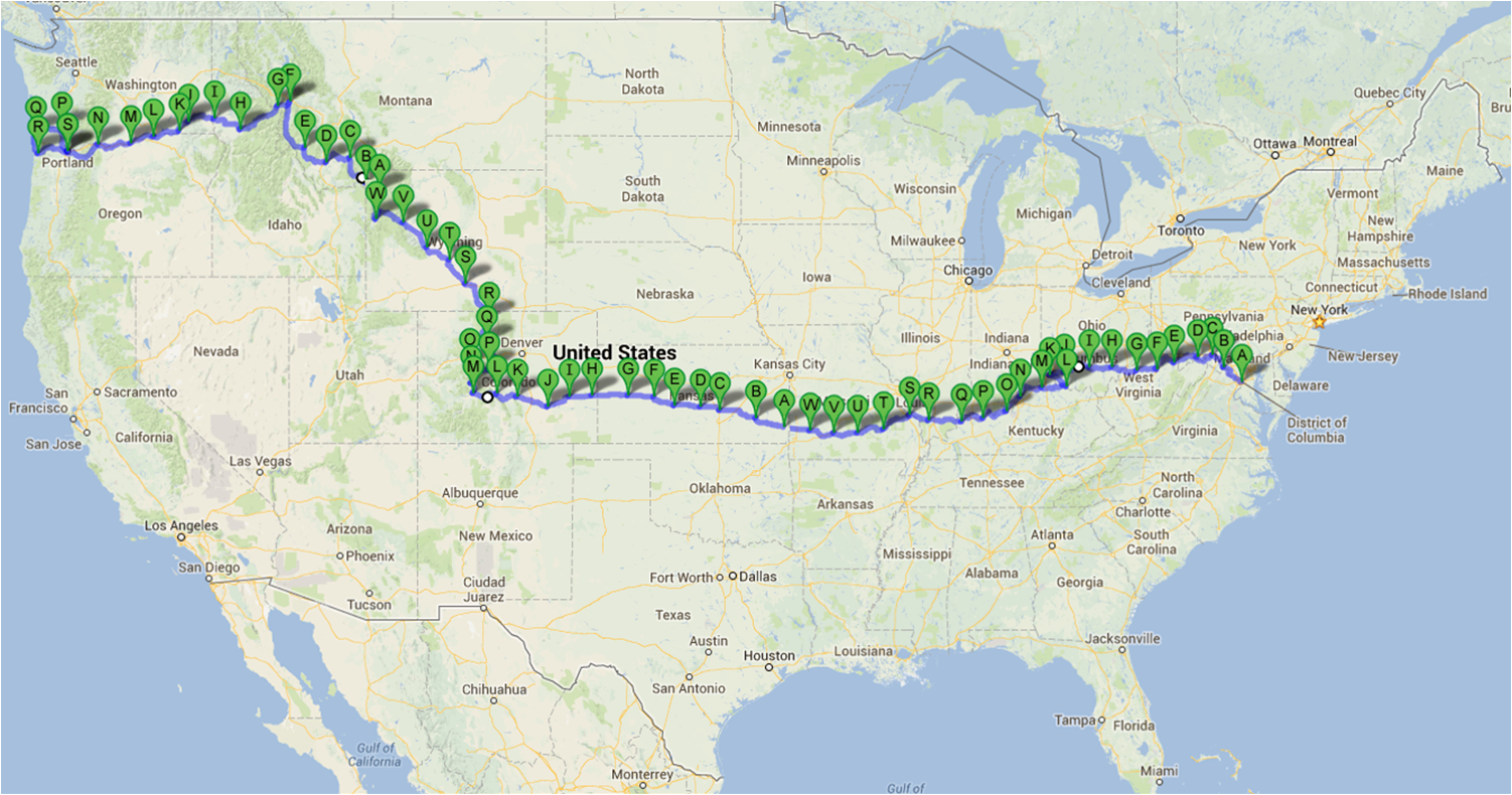 CCAS Grad Bikes Across US To Promote Climate Change Awareness GW - Us bike route 1 map