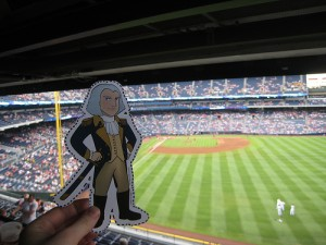 George hangs out at a 2011 Atlanta Braves game