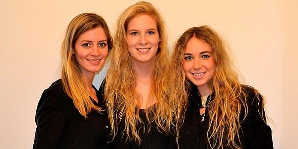 Left to right: Alumnae Elizabeth Grover, Madeline Fraser, Beatrice Fischel-Bock. (Photo: Courtesy ZOOM Interiors)