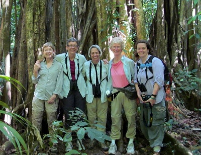 Ann Becker, center, and a group of her travlers in Costa Rica.