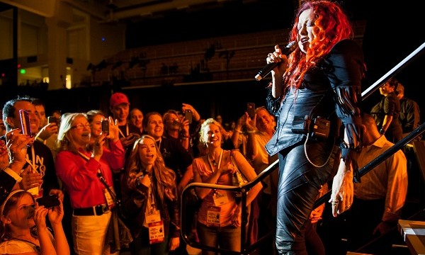 Cyndi Lauper performs to a packed house on Friday night