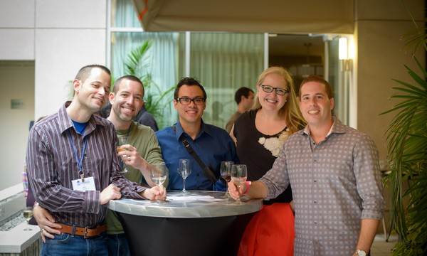 Guests enjoy the sold out LGBT Alumni Reception on Saturday afternoon