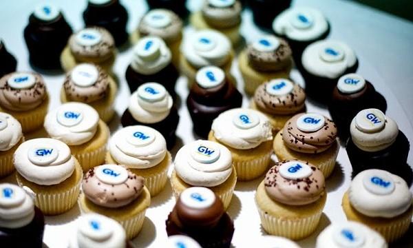 GW cupcakes await reunion attendees on Saturday night