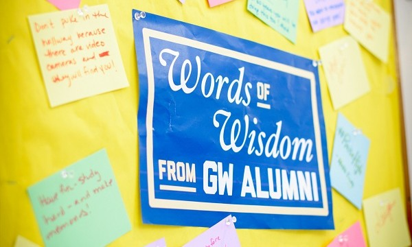 Alumni leave pieces of advice behind for this year's residents of Thurston Hall