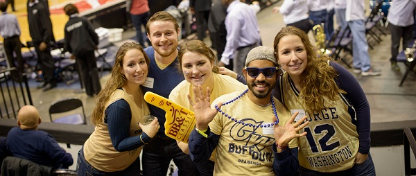 Colonials fans show their spirit at the 2013 BB&T Classic. (Photo by Abby Greenawalt)