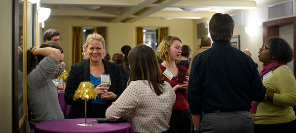 Guests enjoy the 2013 Alumni Holiday Open House.