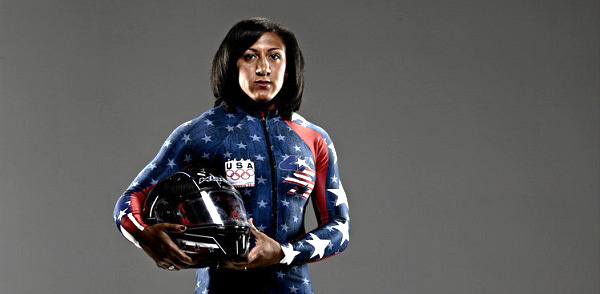 2014 WINTER OLYMPIC GAMES -- NBC / USOC Promotional Shoot -- Pictured: Elana Meyers -- (Photo by: Mitchell Haaseth/NBC).