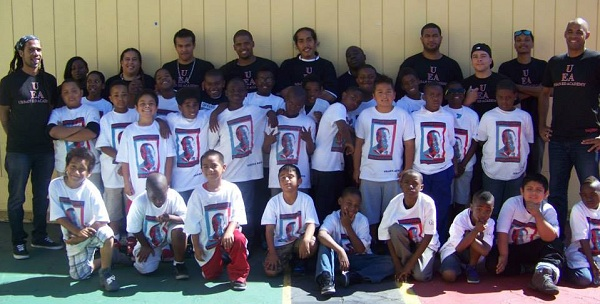 The Urban Ed Academy Staff and students posed for a group shot at Sept. 2013 event at Eldorado Elementary school, San Francisco, CA.