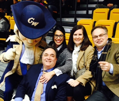 Left to right: Big George poses with Jeff Grieco (seated), Suzie Grieco, Errin Matechak and Jason Matechak.