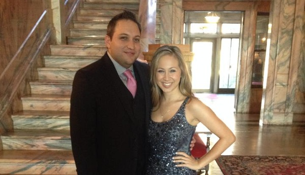 Alumni couple Julian Gompertz and and Ashley Huffman first met on campus in 2008.