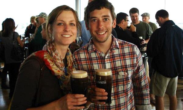 Alumni couple Matt and Sarah Haggerty met when they were graduate students at GW.