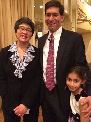 Dr. Elanah Uretsky (left) with her family at an event in Washington, DC.