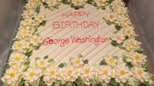 Colonials around the world celebrated George Washington's birthday on February