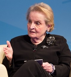 Madeleine Albright on campus in 2014.
