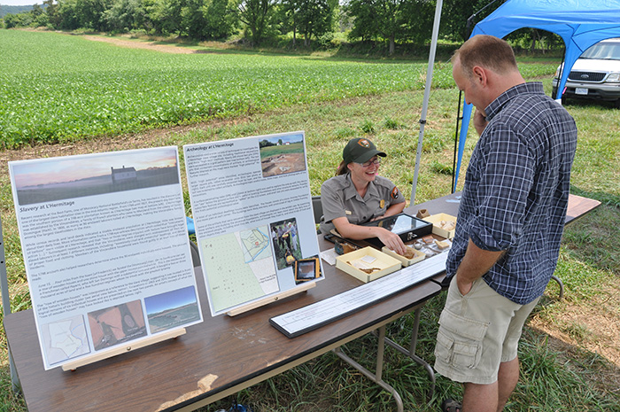 Kate Birmingham educates D.C. residents on the region's archaeological history.