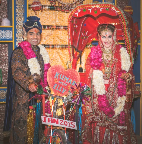Kumar and Elly at their wedding in India last year.