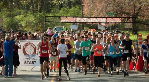 Over 300 Colonials, friends, family, and supporters walked/ran a 5K last year in memory of Peter Hoffman, BS '08, and to raise awareness of the disease that claimed his life—on April 16, they'll do it again.