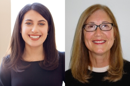 Gabbi Baker, BBA '13 (L) and Judith L. Rogers, MVC AA '77 (R) were elected to the GW Board of Trustees on May 13.