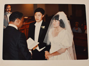Thu-hang and Robert Ogburn at their wedding