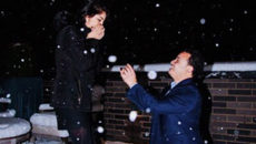 Miguel proposes to Saira on a snowy NYC roof
