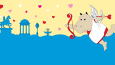 Colonial Valentines - Cupid the Hippo