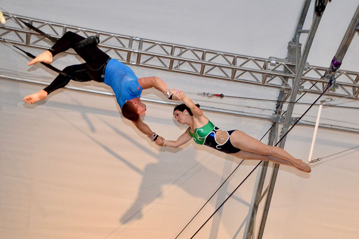 the daring alumna on the flying trapeze gw alumni news